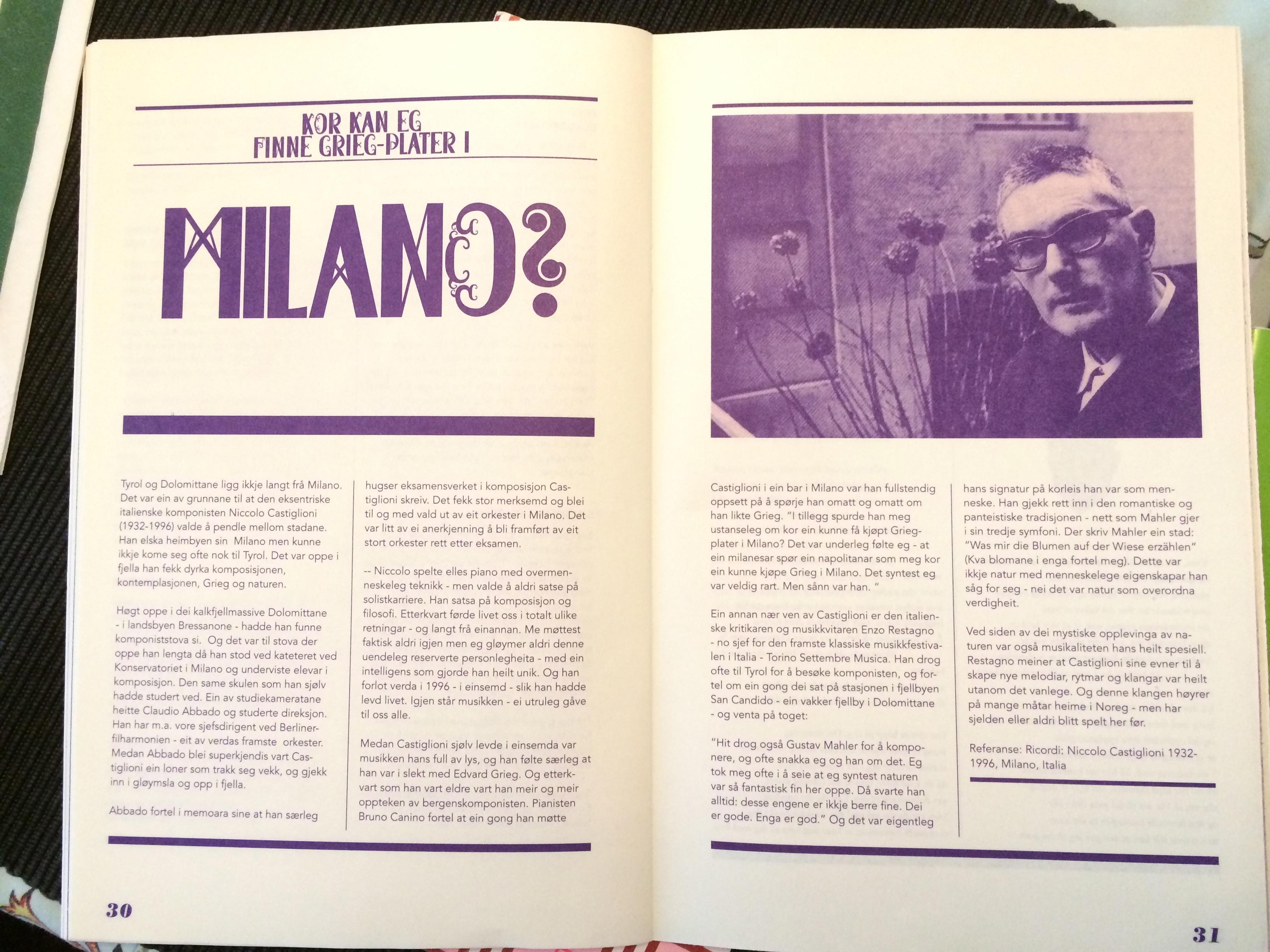 kart over milano sentrum Kor kan eg finne Grieg plater i Milano? (Borealis Festival  kart over milano sentrum